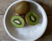 White Biscuit Bowl - medium handmade bowl - Wobbly Plates Series
