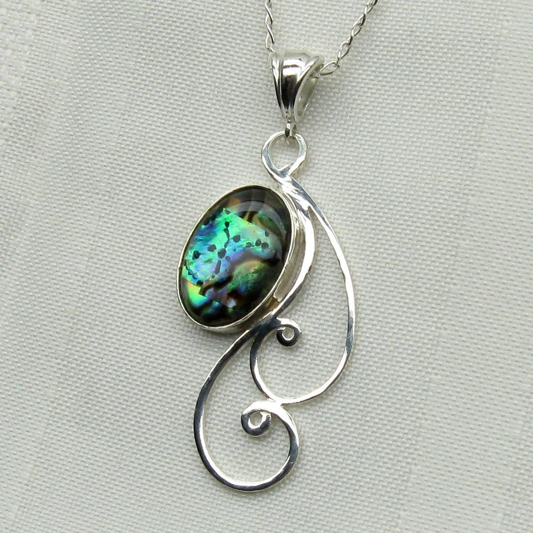 abalone necklace paua shell pendant paua shell jewelry