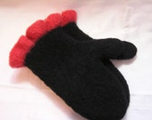 Custom Ordered  Knitted and Felted Mittens... Water and Wind Repellent...Warm