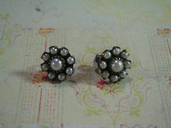 Dainty Swarovski Glass Pearl Post Earrings