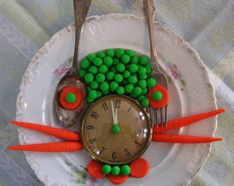 Original Assemblage Art - Lunch Time