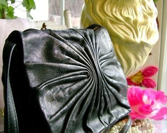 vintage 70s Pantera leather Purse designer handbag Boho evening dance party youth