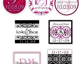Custom Wedding Monogram printable template, personalized Wedding logo printable file, save the date monogram design, digital design