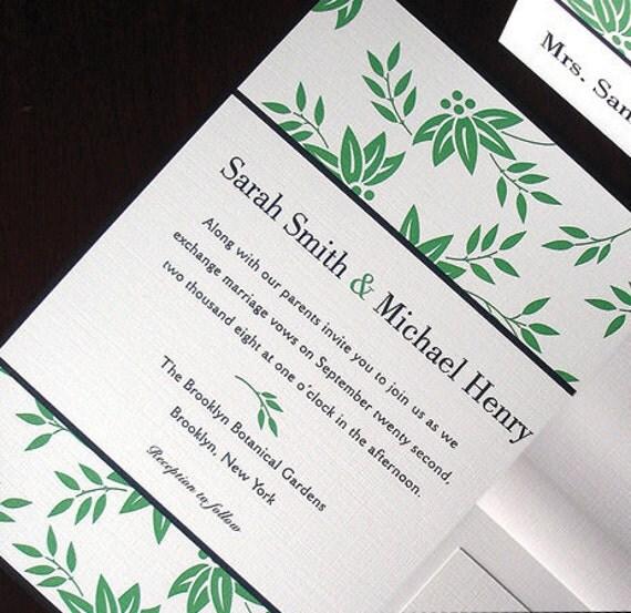 Greenery wedding invitation zen leaves wedding invitations like this item stopboris Gallery