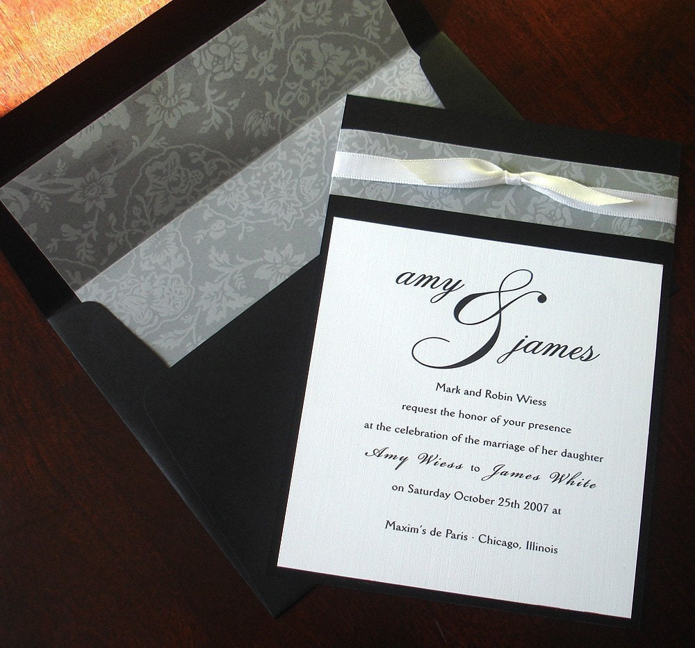 il_fullxfull.70944344 black white vellum bow wedding invitation lined envelope,Vellum Invitations