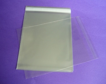 200 9 x 12 Clear Resealable Cello Bag Plastic Envelopes Cellophane Bag Sleeves