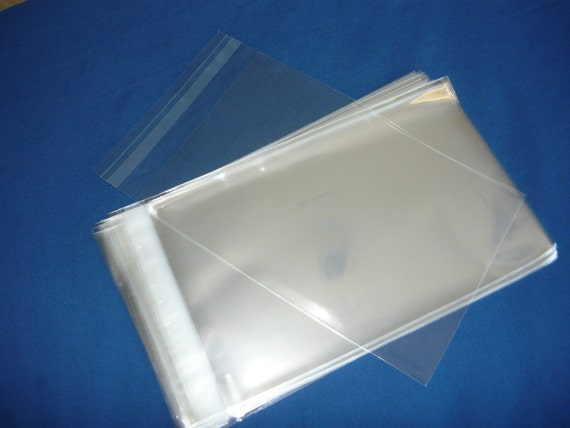 50  6.5 x 9.5 Clear Resealable Cello Bag Plastic Envelopes Cellophane Bag Sleeves Sleeves