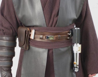 Cosplay Dark Brown Pleather Tabards costume prop
