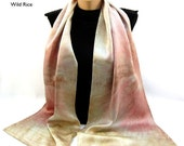 The Colors of SPRING...Hand Dyed Silk Charmeuse Scarf, choose your palette