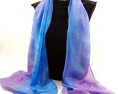 The Colors of SUMMER...Hand Dyed Silk Habotai Scarf, choose your palette