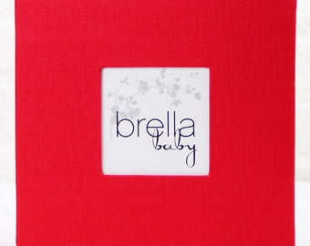 Modern Baby Memory Book (MARGOT in Red) New Reduced Pricing