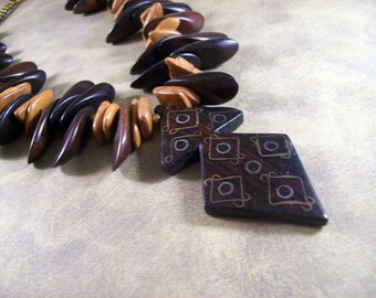 Ebony's Petals necklace yd-057n / one of a kind