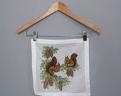 vintage SQUIRREL handkerchief