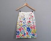 vintage FLORAL cotton skirt S