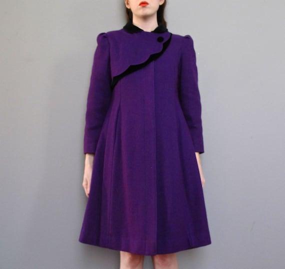 vintage ROYAL PURPLE rothschild coat XS S