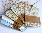 upcycled map gift tags (10)
