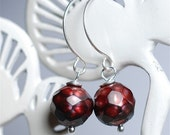 Pomegranate Pearl Earrings - Sterling Silver