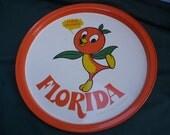 Vintage Florida Orange Bird Metal Charger
