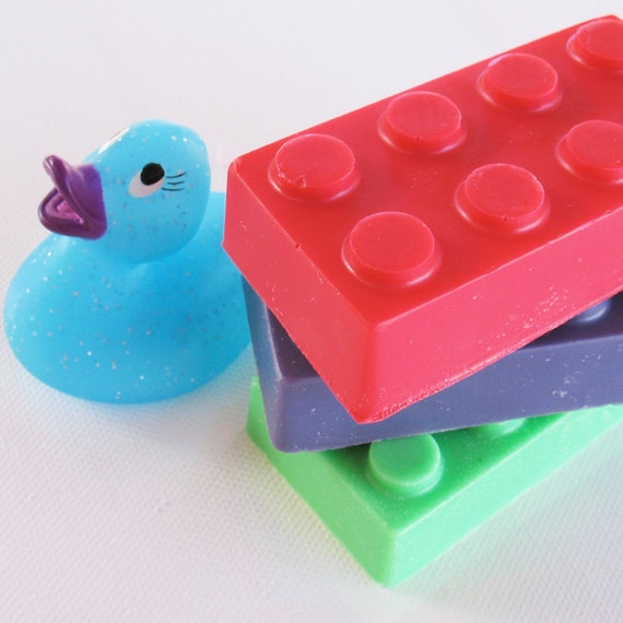 Building Block Soap - 2 pack - red and green