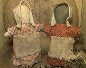 Extreme Primitive Best Friends Cupboard  Prairie Doll Set  OFG TEAM