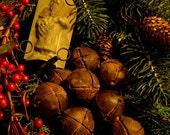 Primitive  Hand Poured  Prim Sleigh Bell Melts-set of 8 Christmas-Holidays-Winter-Primitive Christmas OFG TEAM