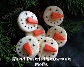 Primitive Hand Poured hand Painted Snowman Face Melts Christmas-holidays-Winter-Primitive Christmas- OFG TEAM