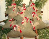 Primitive Christmas Tree with Candy Canes Bowl Fillers Holidays Collectible BICOFG,OFG TEAM