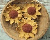 Primitive Grubby Sunflower Bowl Fillers-Tucks-Original design OFG TEAM