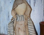 Early Primitive Grubby Prairie Doll,hand crafted,collectivle OFG Team