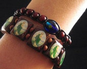 Custom Bella Twilight glass bead prayer bracelet featured in the Twilight Costume Collection