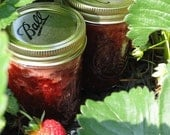 Strawberry Jam Preserves 8 oz Jar Organic