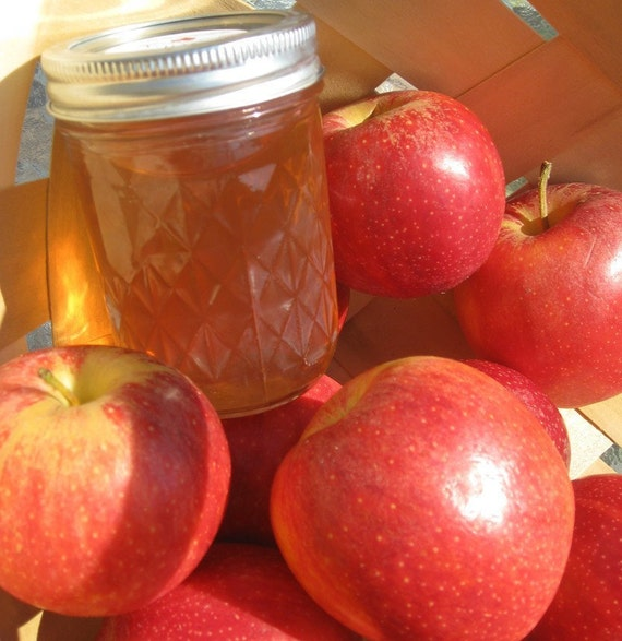Organic Apple Jelly 8 Oz Jar NC Grown
