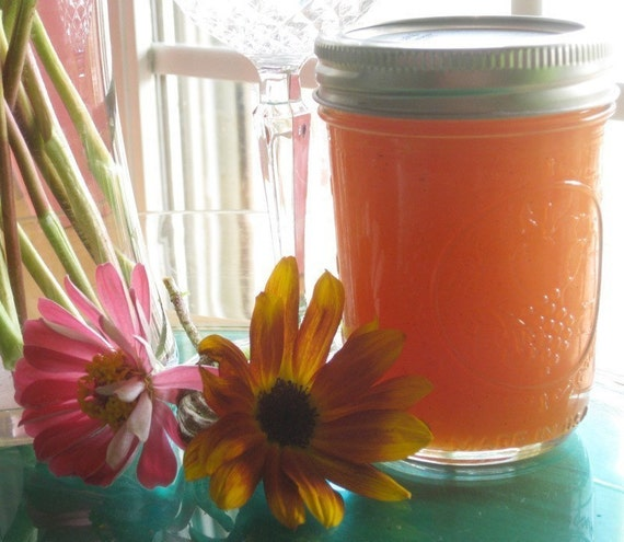 French Vanilla Peach Sauce All Natural 8 oz Jar Jam