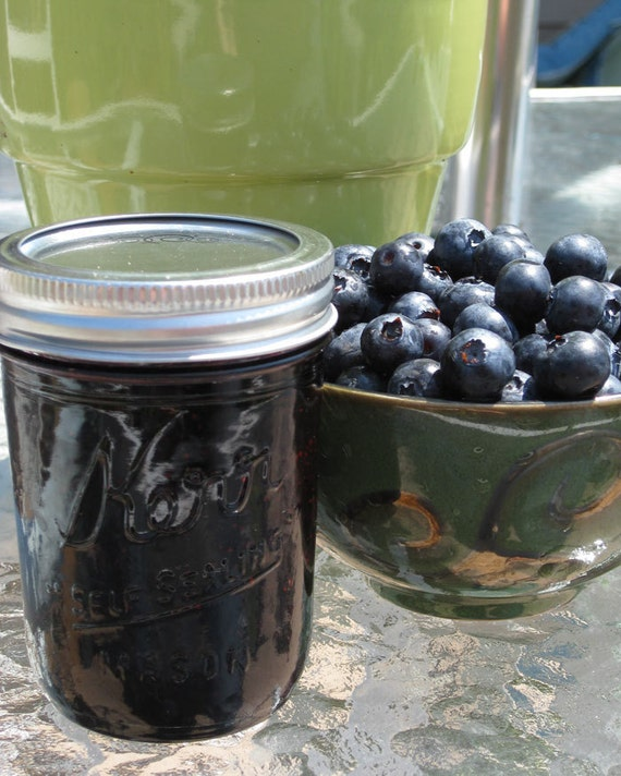 Organic Blueberry Lime Jam 8 oz Jar