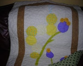 Crib size or lap size Caterpillar Quilt ,  Ready to Ship, baby blanket, lap