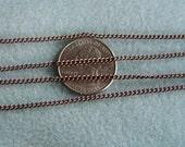 Antique Copper Twist Curb Chain 2mm x 3mm 370-AC