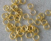 Gold Plated 19 Gauge 7mm Jump Rings 623