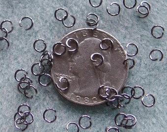 Gunmetal Silver Jump Rings 4mm 21 Gauge 620