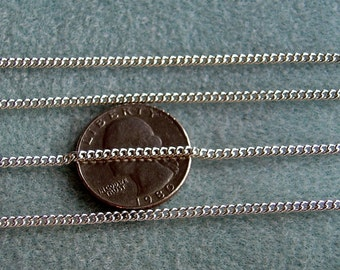 Bright Silver Plated Twist Chain 2mm x 3mm 389 SALE