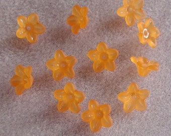 Acrylic Lucite Flower Beads Orange 10mm 429