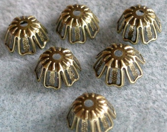 Antique Bronze Bead Cap 12mm Nickel Free 315
