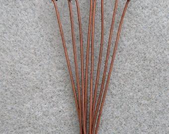 Antique Copper Eye Pins 50mm Nickel Free 651