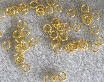 Gold Plated 4mm Jump Rings 629