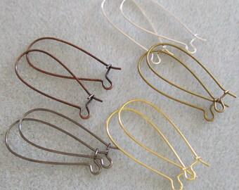 50pcs 33mm Long Kidney Ear Wire Mix 724