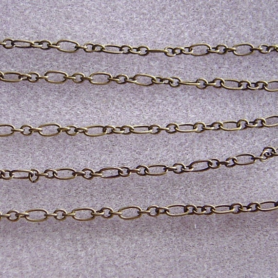 10ft Antique Bronze Mother and Three Sons Chain Nickel and Lead Free 356-o