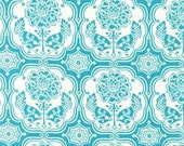 CLEARANCE - 1 yd Robert Kaufman Hot Blossom - Floral Tile