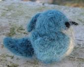 Mini Felted Scrub Jay - Bird Series