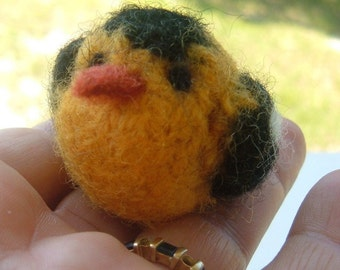 Mini Felted Goldfinch - Bird Series