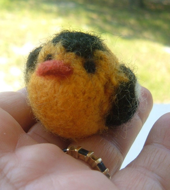Mini Felted Goldfinch - Bird Series