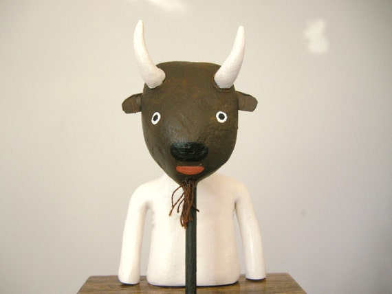 Mook with a Buffalo Mask RESERVED